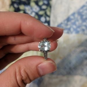 """Jewelry - Aquamarine Sterling Silver Ring Size 4 """"925"""" stamp"""